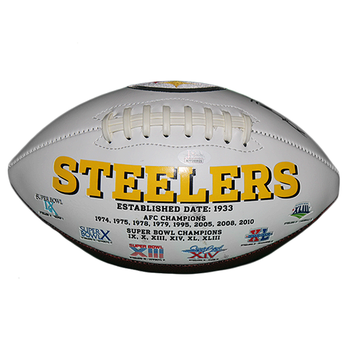 Antonio Brown Pittsburgh Steelers Autographed Full Size Logo Football (JSA COA)