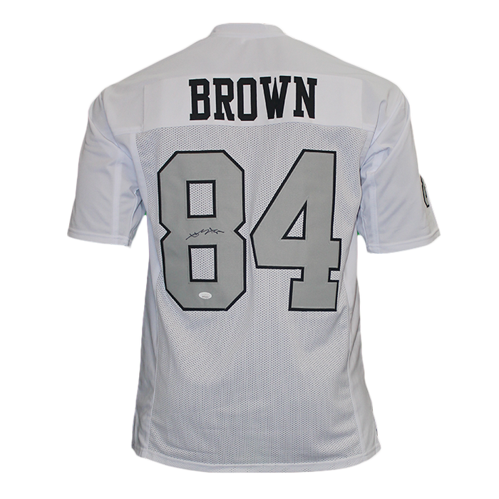 Antonio Brown Autographed Pro Style Football Jersey White/Grey (JSA)