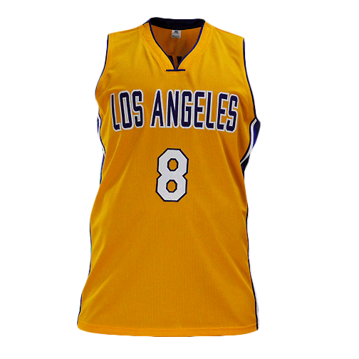 Kobe Bryant Signed Los Angeles Pro Edition Yellow Basketball Jersey (PSA)