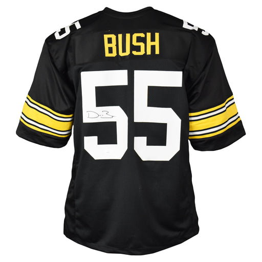 Devin Bush Signed Pro-Edition Black Football Jersey (JSA)