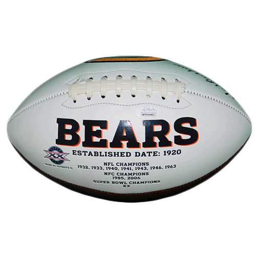 Dick Butkus Autographed Chicago Bears Logo Football (JSA COA)