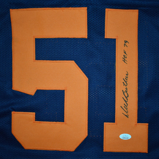 Dick Butkus Signed HOF 79 Pro-Edition Color Rush Football Jersey (JSA)