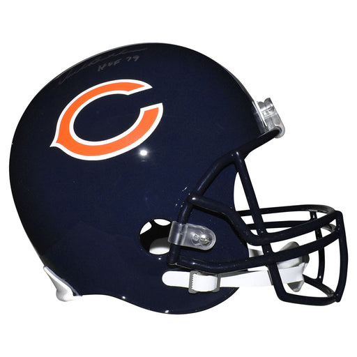 Dick Butkus Signed HOF 79 Inscription Chicago Bears Full-Size Replica Blue Football Helmet (JSA)