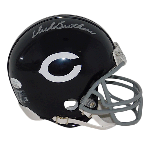 Dick Butkus Chicago Bears Throwback Mini Helmet (JSA)
