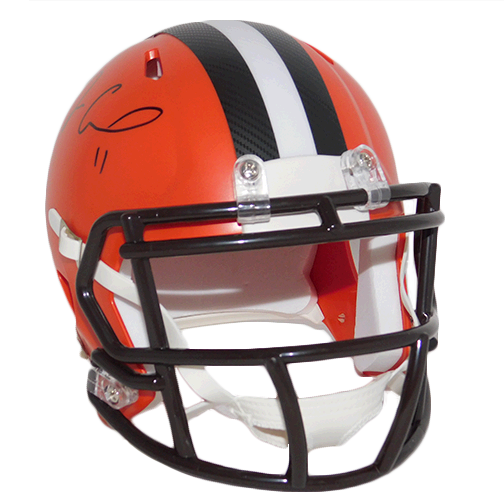 Antonio Callaway Cleveland Browns Autographed Football Mini Helmet Speed (JSA COA)