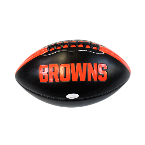 Antonio Calloway Cleveland Browns Autographed Full Size Black Logo Football (JSA COA)