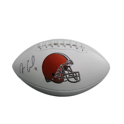 Antonio Calloway Cleveland Browns Autographed Full Size White Logo Football (JSA COA)
