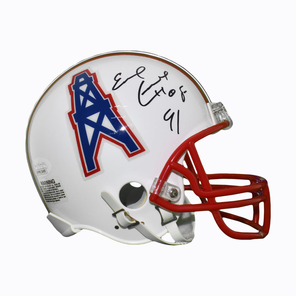 Earl Campbell Signed HOF 91 Houston Oilers Mini Football Helmet (JSA)