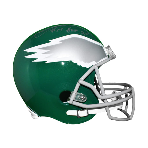 Harold Carmichael Signed Philadelphia Eagles Replica Helmet (JSA) HOF Inscription Included