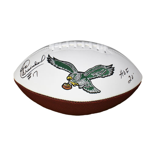 Harold Carmichael Signed HOF 20 Philadelphia Eagles Logo Football (JSA)