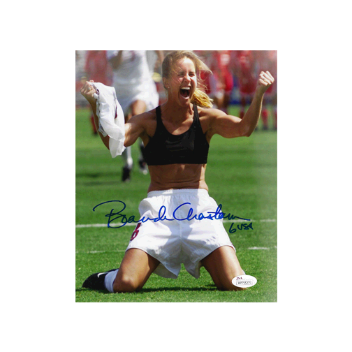 Brandi Chastain Autographed 8 x 10 Photo (JSA) Soccer
