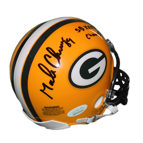 Mark Chmura Autographed Green Bay Packers Football Mini Helmet (JSA) SB Inscription Included