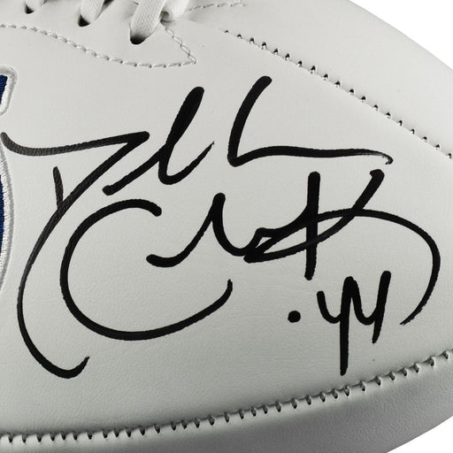 Dallas Clark Signed Indianapolis Colts Official NFL Team Logo Football (JSA)