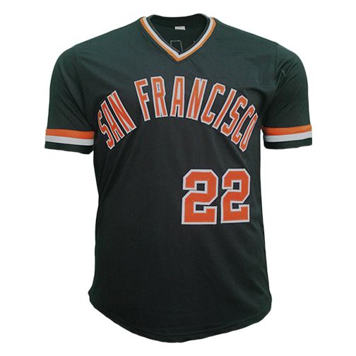 "Jack Clark Autographed San Francisco Pro Style Baseball Jersey Black (JSA) ""The Ripper"" Inscription Included"