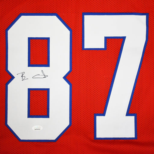 Ben Coates Signed Pro-Edition Red Football Jersey (JSA)