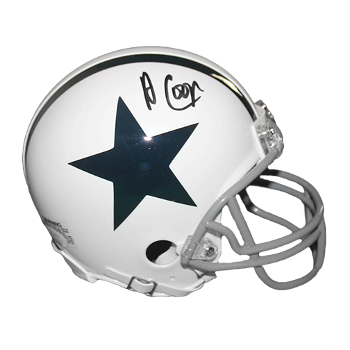 Amari Cooper Dallas Cowboys White Mini Helmet (JSA)