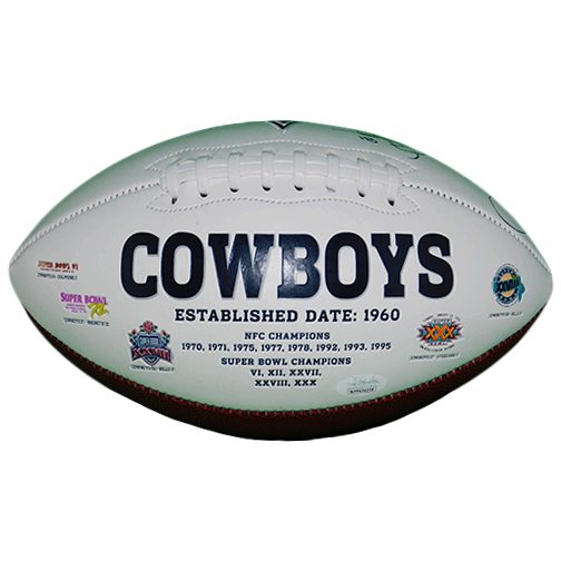 Rocket Ismail Autographed Cowboys Logo Football (JSA)