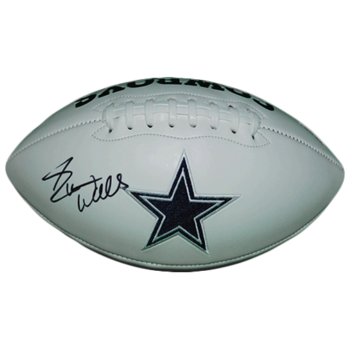 Everson Walls Autographed Dallas Cowboys Logo Football (JSA)