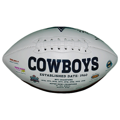 Everson Walls Autographed Dallas Cowboys Logo Football (JSA-Certified)