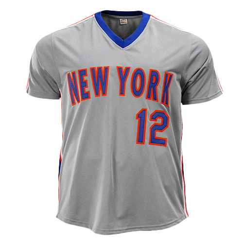 Ron Darling Signed 1986 WS Champs New York Grey Baseball Jersey (JSA)