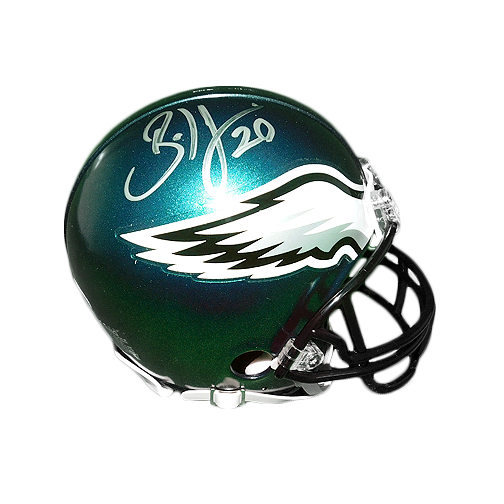 Brian Dawkins Signed Eagles Mini Helmet (JSA)