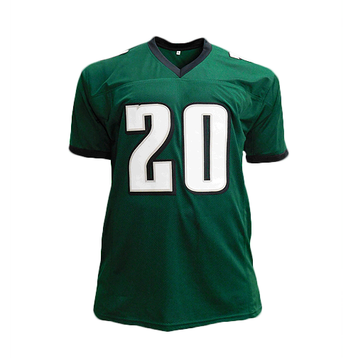 Brian Dawkins Signed Pro Edition Green Football Jersey (JSA)