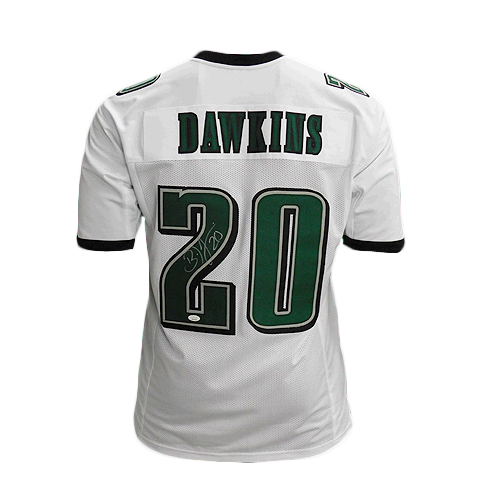 Brian Dawkins Signed Pro-Edition White Football Jersey (JSA)