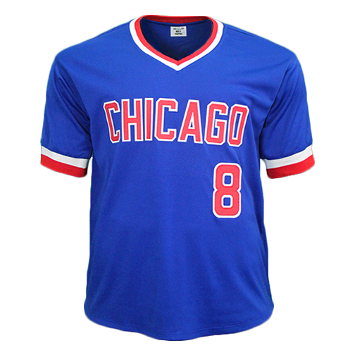 lowest price 251d5 e179d Andre Dawson Autographed Special Throwback Chicago Pro Style Baseball  Jersey Blue (JSA COA)