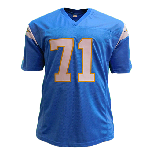 Fred Dean Chargers Autographed Football Jersey Powder Blue (JSA) HOF Inscription Included