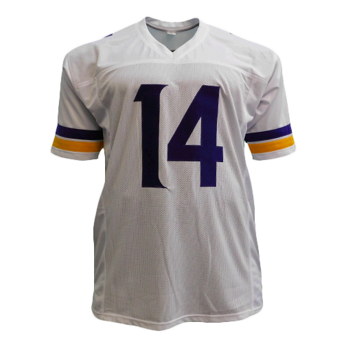Stefon Diggs Autographed Pro Style Football Jersey White (JSA)