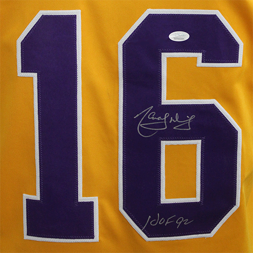 Marcel Dionne Los Angeles Autographed Pro Style Hockey Jersey Yellow (JSA) HOF Inscription Included