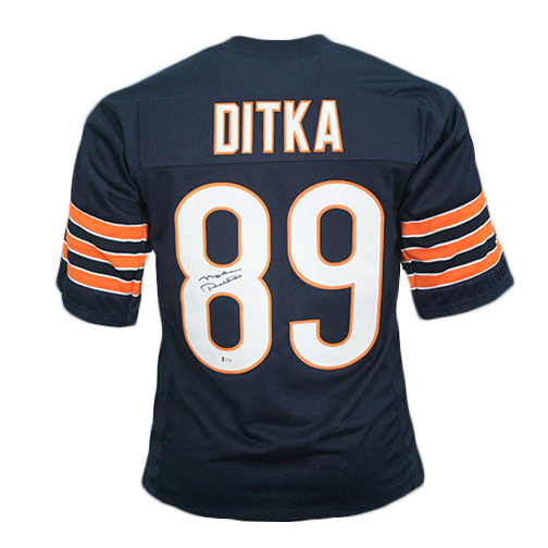 Mike Ditka Autographed Navy Pro Style Football Jersey (PSA)