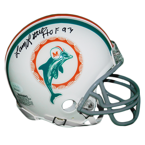 Larry Little Miami Dolphins Autograhed Football Mini Helmet HOF- 93 (JSA-Certified)