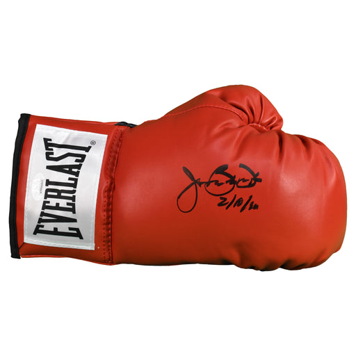 "James ""Buster"" Douglas Autographed Boxing Glove Red 2-10-90 Inscription (JSA)"