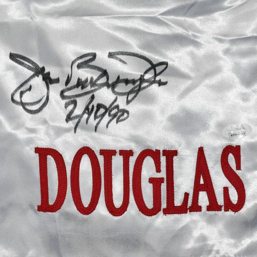 "James ""Buster"" Douglas Autographed White Boxing Trunks 2-10-90 Inscription (JSA)"