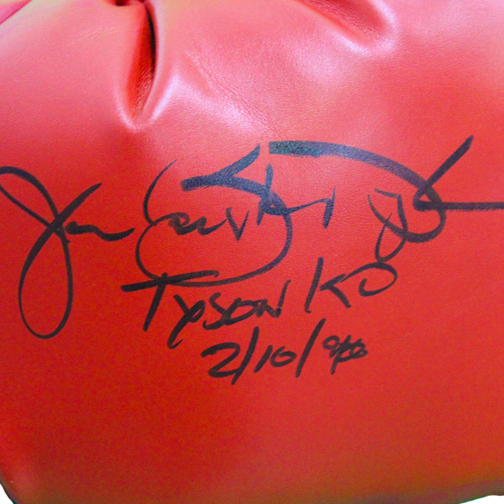 "James ""Buster"" Douglas Autographed Boxing Glove (Mike Tyson K.O. 2-10-90 Inscription Included) MISC JSA COA"