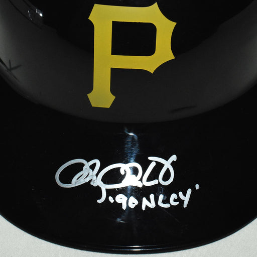 Doug Drabek Signed 90 NL CY Inscription Pittsburgh Pirates Souvenir MLB Baseball Batting Helmet (JSA)