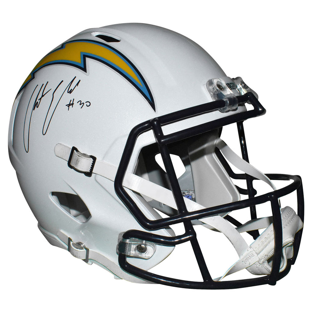 Austin Ekeler Signed Los Angeles Chargers Full-Size Speed Replica Football Helmet  (PSA)
