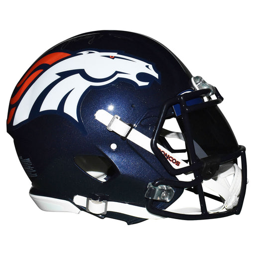 John Elway Signed Denver Broncos Authentic Speed Full-Size Blue Customized Football Helmet (Beckett)