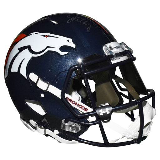 John Elway Signed Denver Broncos Authentic Speed Full-Size Blue UA Football Helmet (Beckett)