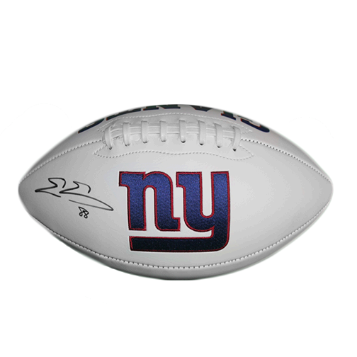 Evan Engram New York Giants Logo Full Size Football Autographed (JSA COA)