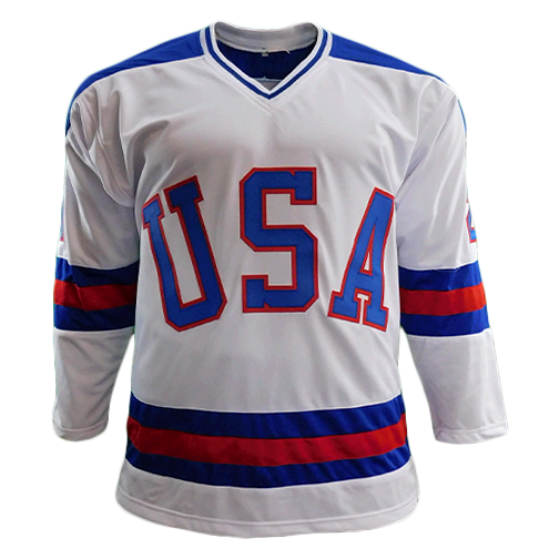 Mike Eruzione Autographed Team USA Olympic Jersey White (JSA)
