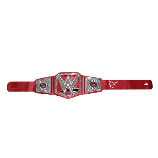 Ric Flair Autographed Championship Replica Pro Wrestling Belt (JSA COA) Red