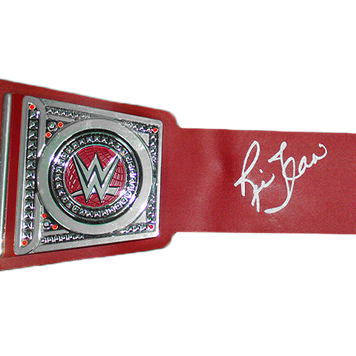 Ric Flair Autographed Championship Replica Pro Wrestling Belt (JSA) Red