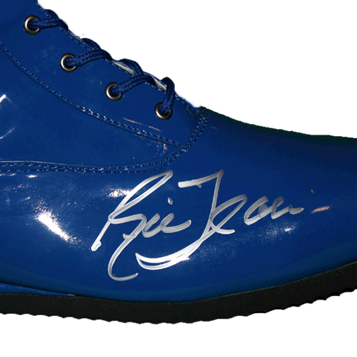 Ric Flair Autographed Blue Pro Wrestling Full Size Boot (JSA)