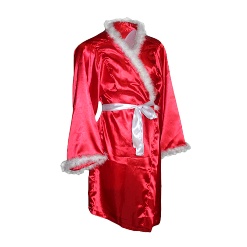 Ric Flair Autographed Red Pro Wrestling Nature Boy Robe (JSA COA) 16x Inscription Included!