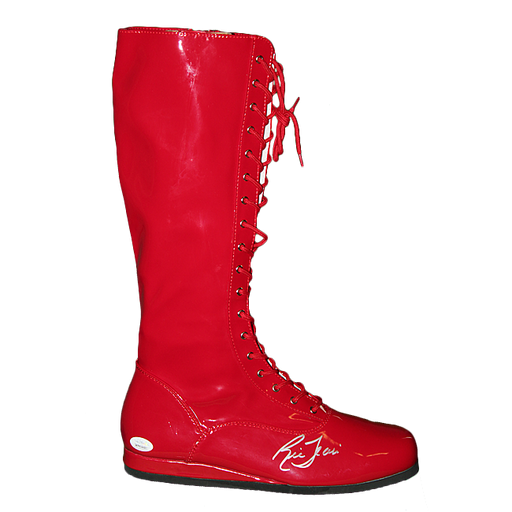 Ric Flair Autographed Wrestling Boot Red (JSA COA)