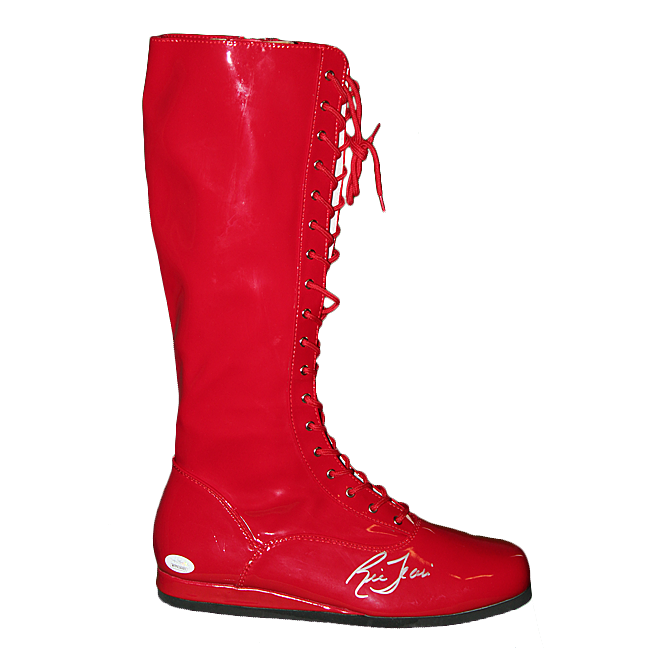 Ric Flair Autographed Wrestling Boot Red (JSA)