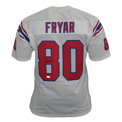 Irving Fryar New England Patriots Autographed Football Jersey White (JSA)