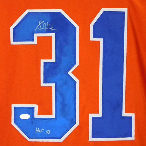 Grant Fuhr Signed HOF '03 Edmonton Orange Hockey Jersey (JSA)